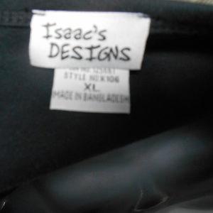 Issac's Designs Tops - Isaac's Designs black rhinestone top XL